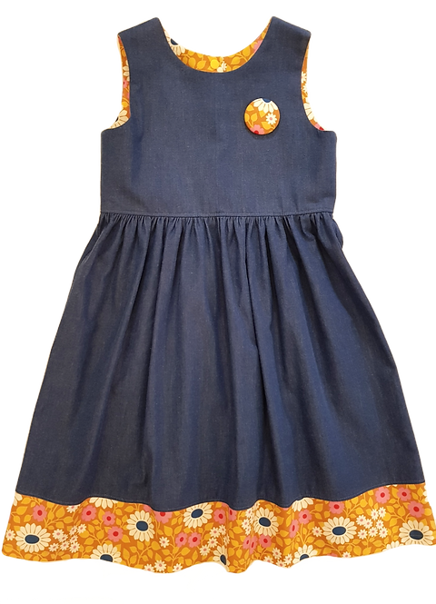 Mustard Daisies Pixie II Dress