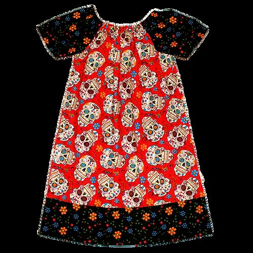 Sugar Skulls Peasant Dress