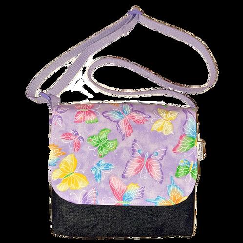 Messenger bag - Glittery butterflies