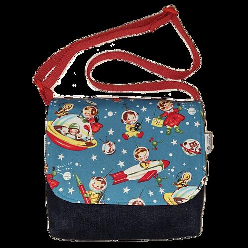Messenger bag - Retro rockets