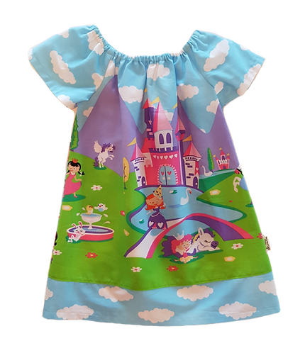 Unicorn Castle Peasant Dress