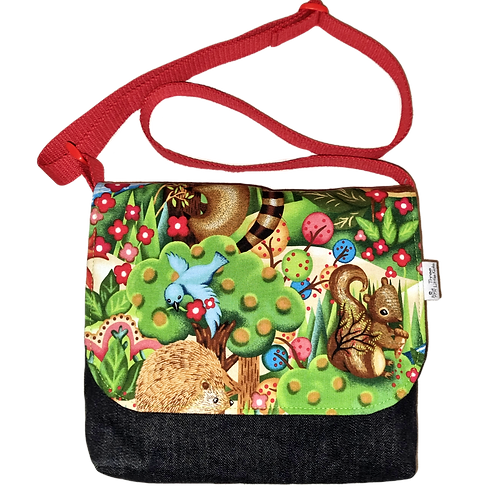 Messenger bag - Forest critters