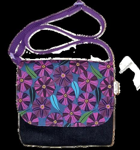 Messenger bag - Purple blooms