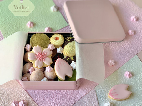 〈キャンセル出ました〉桜のクッキー缶