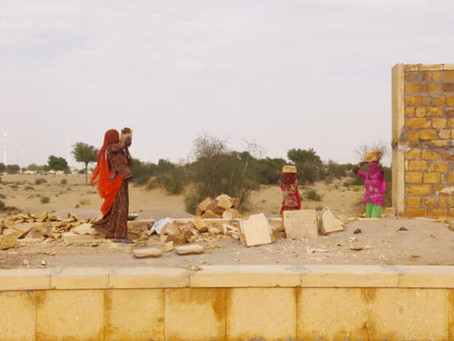 Update of the construction on             The GYAAN Center in Jaisalmer India!