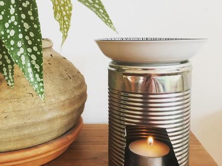 Upcycled essential oils burner