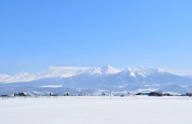 冬の十勝連峰