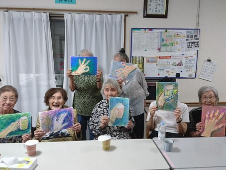 杉林先生のクレヨン画教室