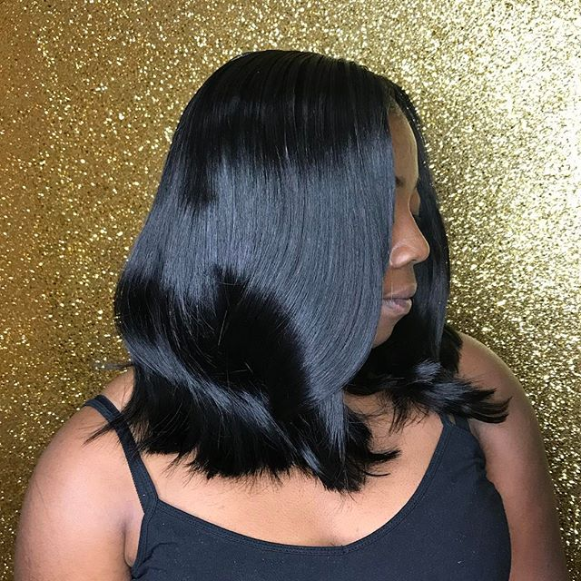 😍😩 Quickweave install with Bob cut