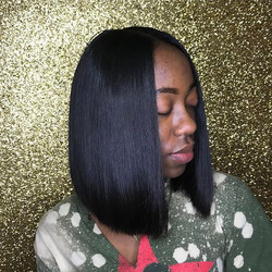 #NOFILTER Fleeky, Flawless & FLAT Quickweave install with blunt cut 😍