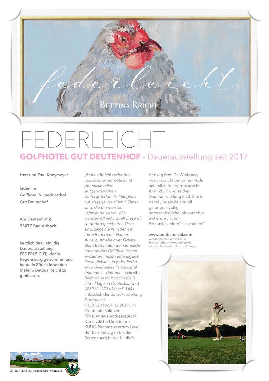 Golfhotel Gut Deutenhof - Plakat _FEDERL