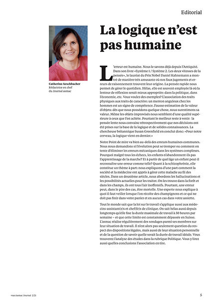 Journal asmac No 2 - avril 2021 Seite 5.