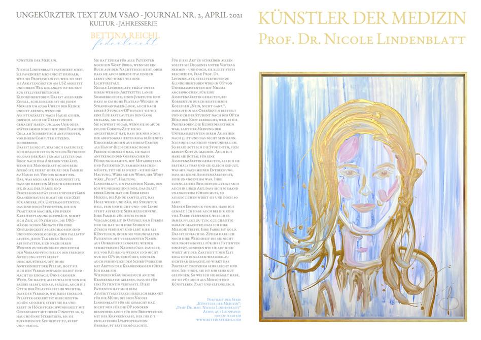 """Künstler der Medizin"" - Prof. Dr. Nicole Lindenblatt"