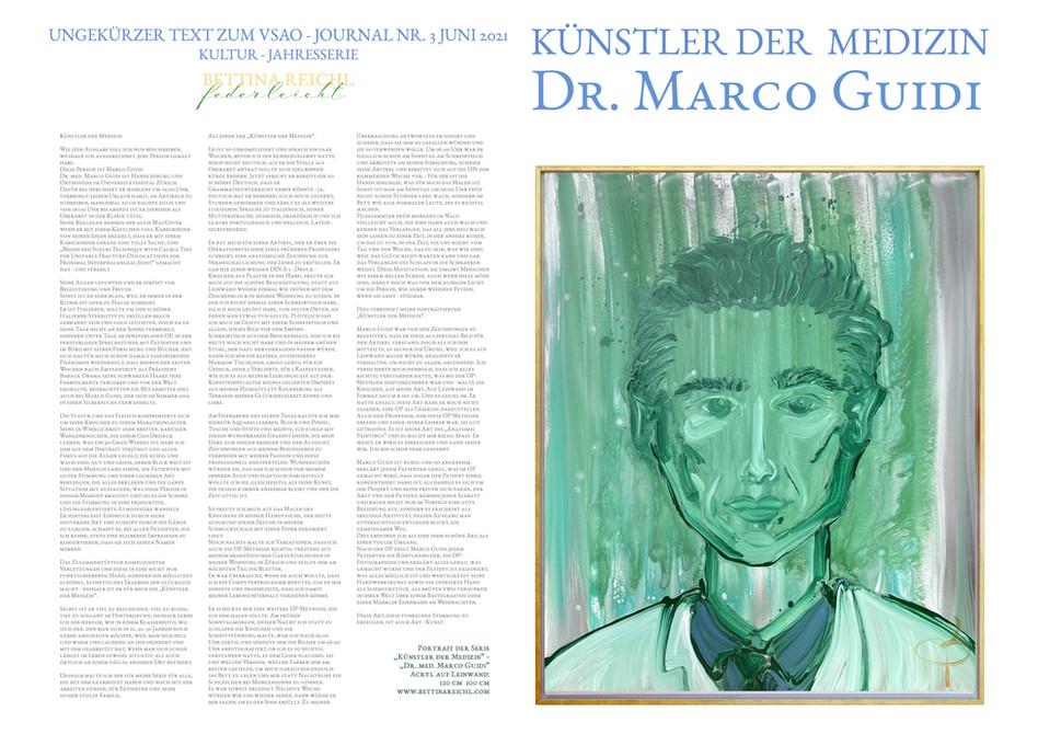 """""""Künstler der Medizin"""" - Dr. Marco Guidi"""
