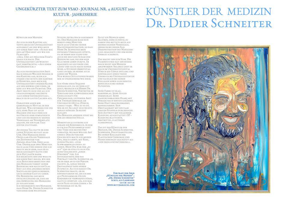 """""""Künstler der Medizin"""" - Dr. Didier Schneiter"""