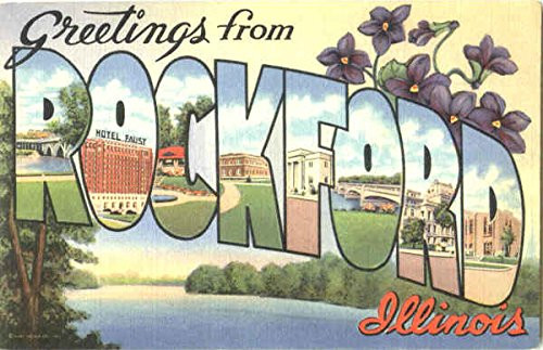 antique postcard from Rockford illinois.