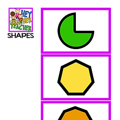 FOCUS BOARD MATERIALS - SHAPES