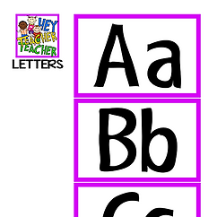 FOCUS BOARD MATERIALS - LETTERS
