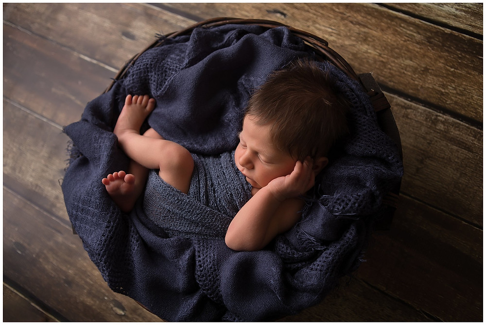 newborn boy in navy blue samantha bryce photography