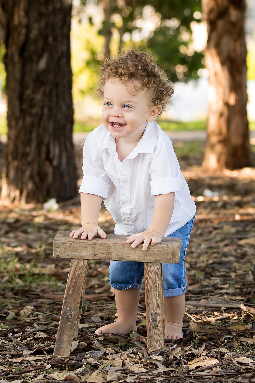 baby boy portrait outside syndey