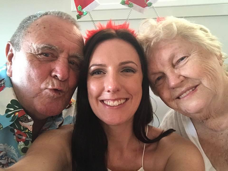 Nan Pop and grand daughter smiling