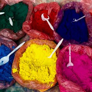 Colored powder for the Tihar festival