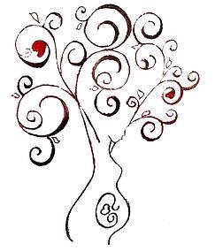 donna incinta albero della vita feto amore materno