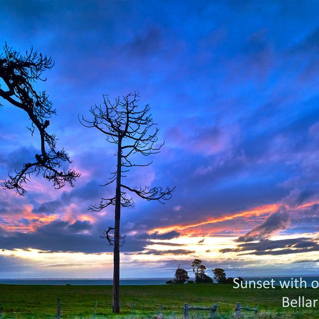 Sunset at Spray farm