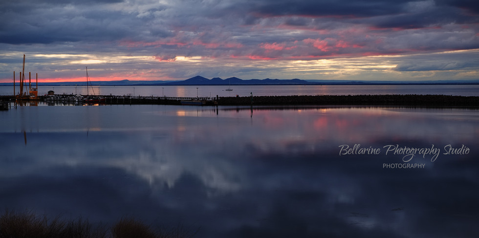 Sunset at Portarlington Pier- Bellarine.