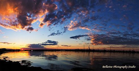 Portarlington Harbour at Sunset_Panorama