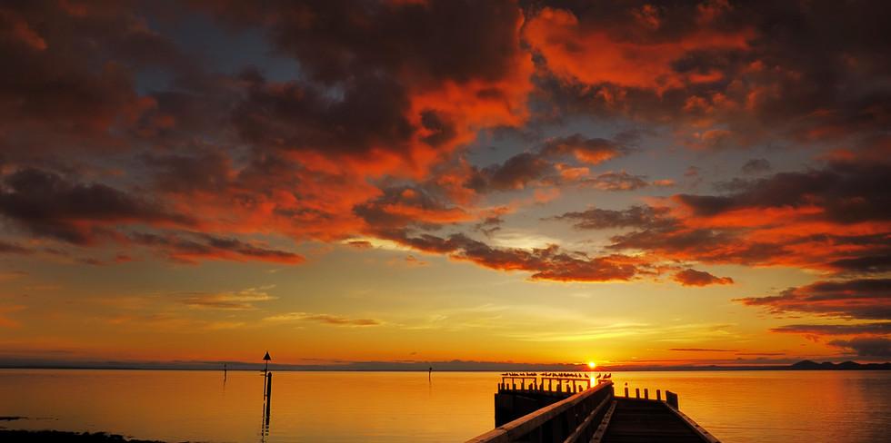 Sunset at Point Richard Pier - Bellarine