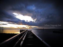 Sunset at Point Richard Pier- Bellarine