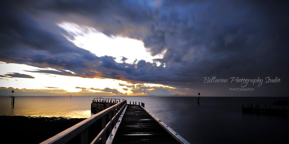 Sunset at Point Richard Pier- Bellarine.