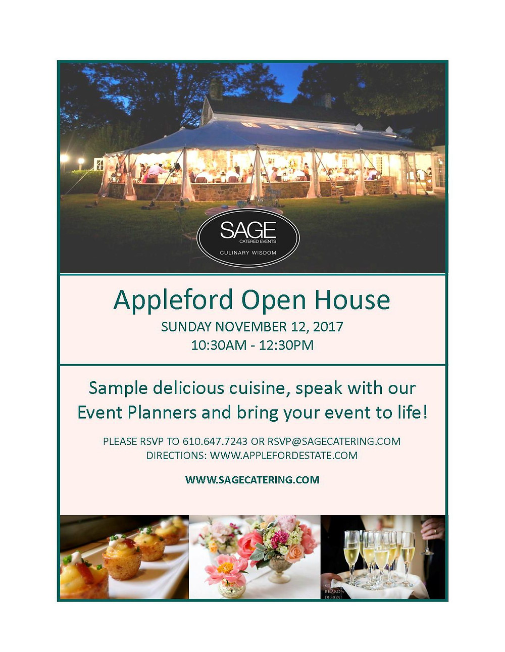 JOIN SAGE FOR OUR UPCOMING OPEN HOUSE AT APPLEFORD ESTATE