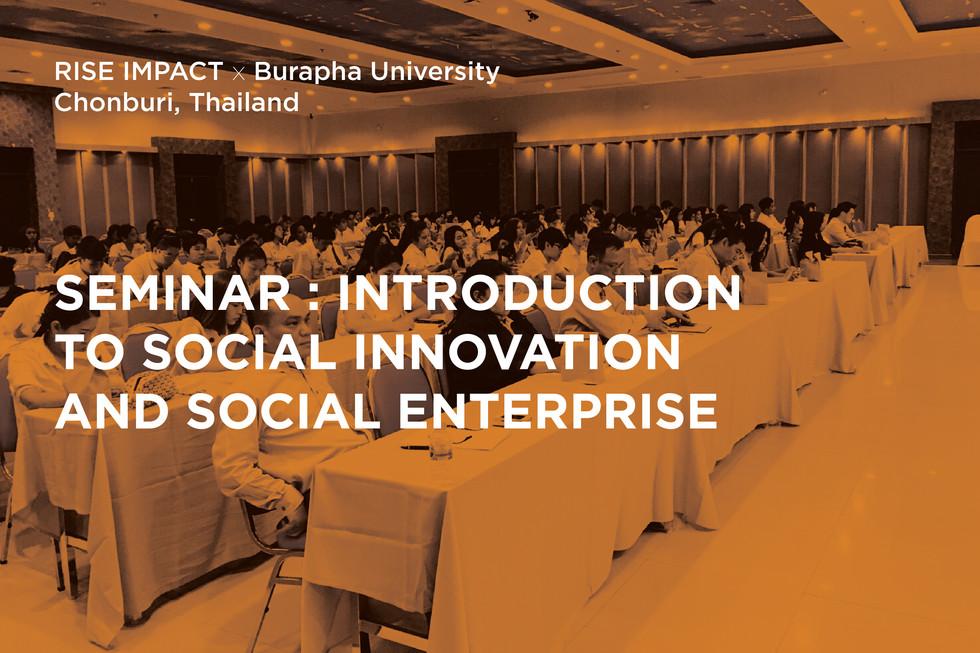 Social Entrepreneurship Seminar