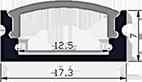 פרופיל תאורה 1707