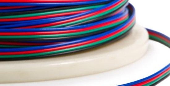 חוט 4 גידים בעובי 0.2ממ צבעוני לפסי לד RGB