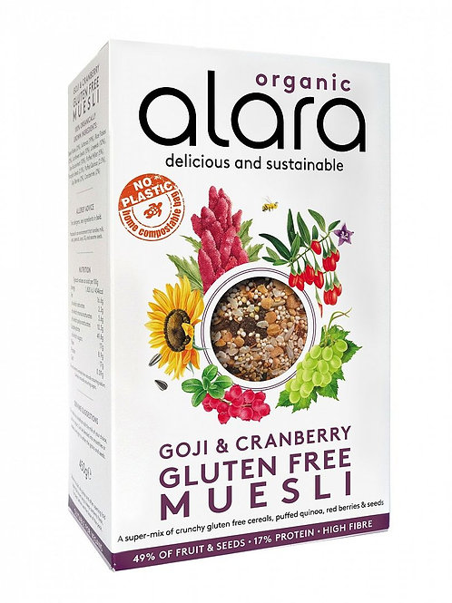 Alara Organic - Goji & Cranberry Gluten Free Muesli 450g