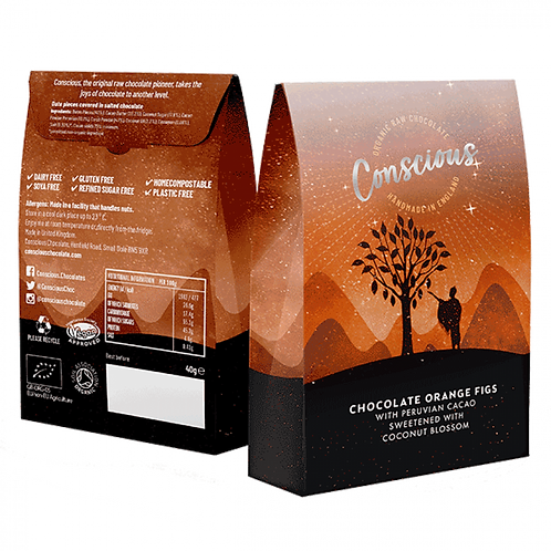 Conscious Chocolate Orange Figs 50g