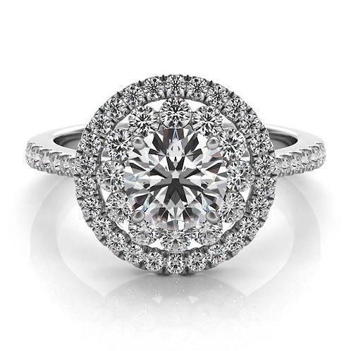 0.70 ctw. WHITE GOLD HALO ENGAGEMENT RING