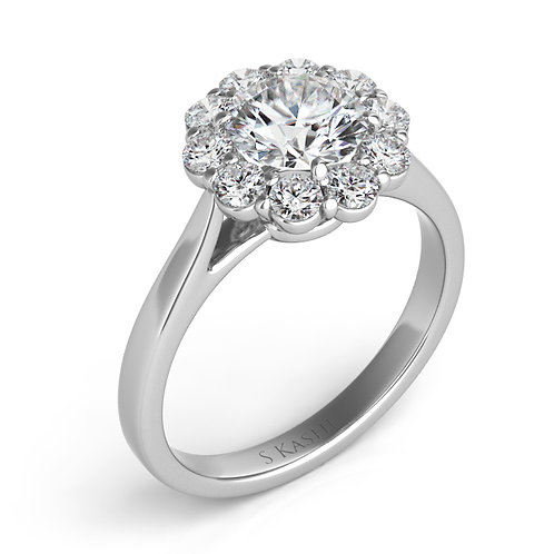0.62 ctw. WHITE GOLD HALO ENGAGEMENT RING