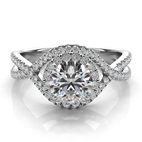 0.34 ctw. WHITE GOLD HALO ENGAGEMENT RING