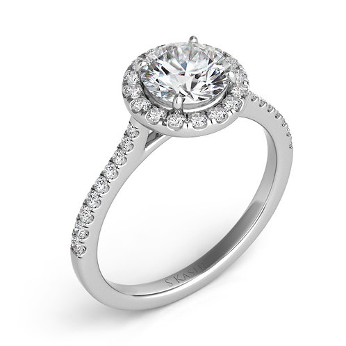 0.28 ctw. WHITE GOLD HALO ENGAGEMENT RING