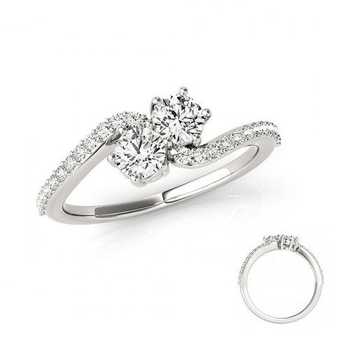 Diamond 2 Stone Ring
