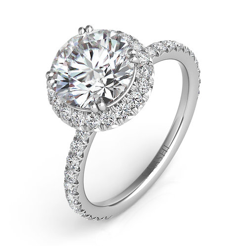 0.69 ctw. WHITE GOLD HALO ENGAGEMENT RING