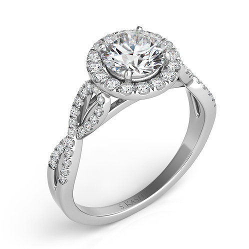 0.27 ctw. WHITE GOLD ENGAGEMENT RING