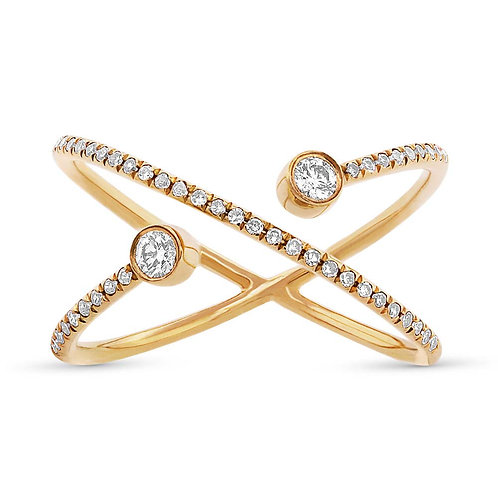 14k Yellow Gold Diamond Lady's Ring