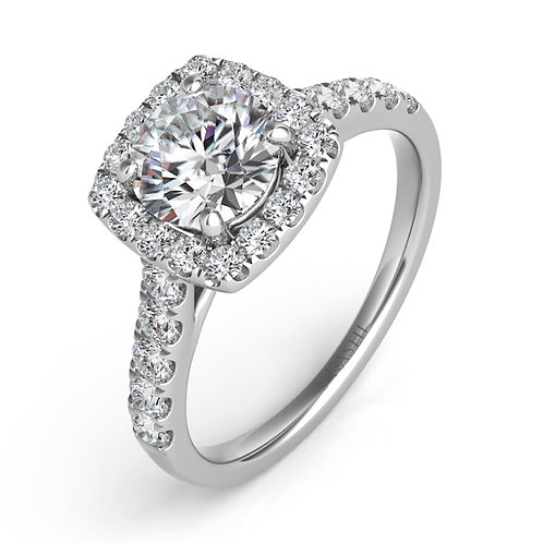 0.56 ctw. WHITE GOLD HALO ENGAGEMENT RING