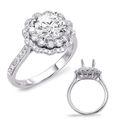 0.58 ctw. WHITE GOLD HALO ENGAGEMENT RING