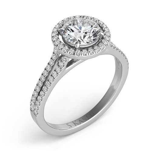0.27 ctw. WHITE GOLD HALO ENGAGEMENT RING